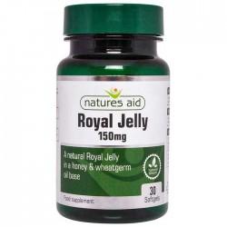 Βασιλικός Πολτός Royal Jelly 150 mg - 30 κάψουλες Natures Aid