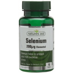 Selenium Elemental 200mg 90 ταμπλέτες Natures Aid / Μέταλλα