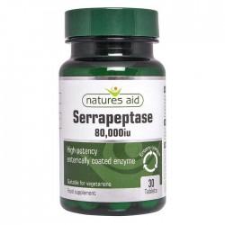 Serrapeptase 80,000 iu - Natures Aid 30 ταμπλέτες / Σερραπεπτάση