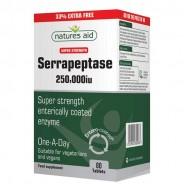 Serrapeptase 250,000 iu - Natures Aid 80 ταμπλέτες / Σερραπεπτάση