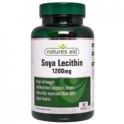 Soya Lecithin 1200mg Natures Aid 90 κάψουλες / Λιποδιαλύτης - Λεκιθίνη Σόγιας