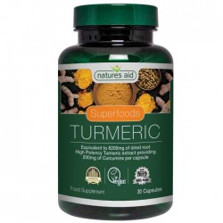 Turmeric 8200MG (Whole plant - High Potency) 30 caps - Natures Aid  / Kουρκουμάς