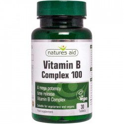 Vitamin B Complex 100 - 30 ταμπλέτες Natures Aid