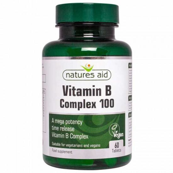 Vitamin B Complex 100 - 60 ταμπλέτες Natures Aid