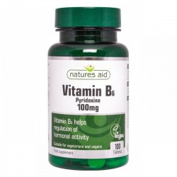 Vitamin B6 Pyridoxine 100mg 100 ταμπλέτες - Natures Aid /Βιταμίνες
