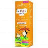 Vitamin C 100mg Kids Drops 50ml Για Βρέφη-Παιδιά - Natures Aid / Παιδική Βιταμίνη C