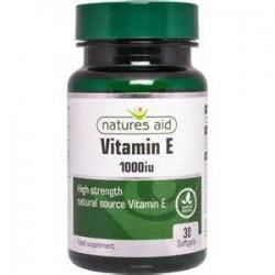 Vitamin E 1000IU 30 μαλακές κάψουλες - Natures Aid / Βιταμίνες