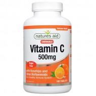 Vitamin C 500mg 100 Μασώμενες ταμπλέτες Natures Aid / Βιταμίνες