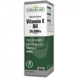Vitamin E (Natural) 20,000iu Oil 50ml για Κατάποση & Εξωτερική Χρήση - Natures Aid / Λάδι Βιταμίνη Ε