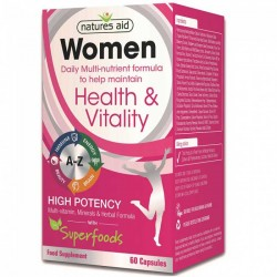 Women's Multi-Vitamins & Minerals 60 caps - Natures Aid / Γυναικεία Πολυβιταμίνη