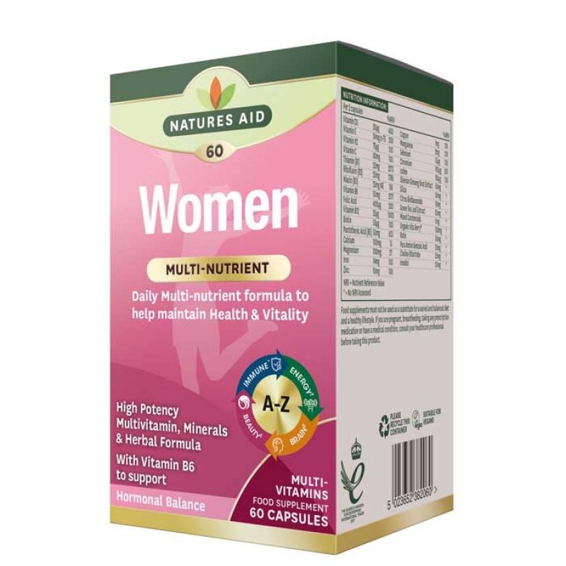 f40ba760b5 Women s Multi-Vitamins   Minerals 60 caps - Natures Aid   Γυναικεία  Πολυβιταμίνη