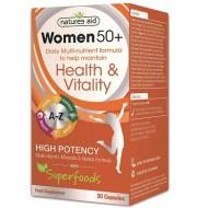 Women 50+ Multi-Vitamins & Minerals 30 κάψουλες - Natures Aid / Γυναικεία Προϊόντα