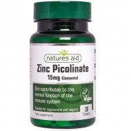 Zinc Picolinate 15mg elemental 30 κάψουλες Nature's Aid - Μέταλλα