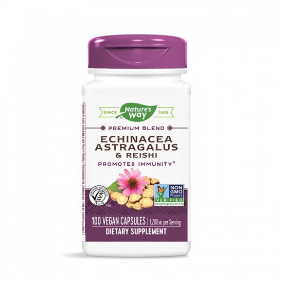 Echinacea Astragalus Reishi 400mg 100 κάψουλες - Natures Way / Βοτανοθεραπεία