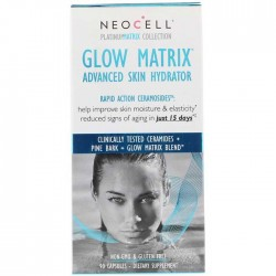 Glow Matrix, Advanced Skin Hydrator 90 caps - NeoCell / Ενυδάτωση δέρματος