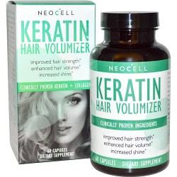 Keratin Hair Volumizer with Collagen 60 ταμπλέτες - Neocell / Γυναικεία Προϊόντα