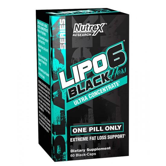 Lipo-6 Black Hers Ultra Concentrate 60 κάψουλες - Nutrex / Θερμογενετικός Λιποδιαλύτης