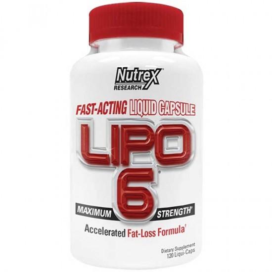 Lipo-6 Maximum Strength 120 Liquid caps - Nutrex