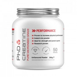 Creatine Pure Micronized Grade 250gr - PhD Nutrition / Μονοϋδρική Κρεατίνη