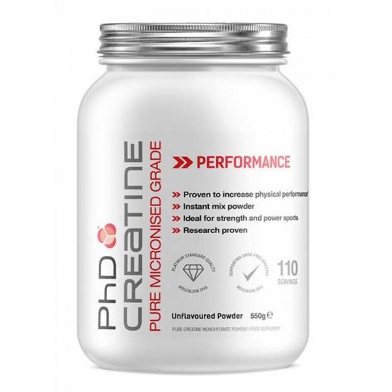 Creatine Pure Micronized Grade 550gr - PhD Nutrition / Μονοϋδρική Κρεατίνη