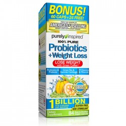 100% Pure Probiotics + Weight Loss 84 vcaps - Purely Inspired