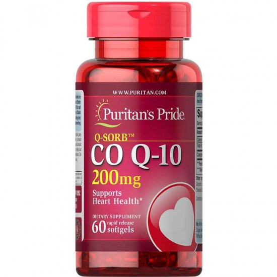 Co Q10 200mg 60 softgels - Puritans Pride