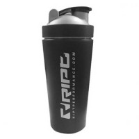 RIPT Stainless Steel Metal Protein Shaker 750ml - Μαύρο ανοξείδωτο