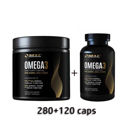 Omega 3 Fish Oil  Self  280 caps + 120 caps (combo)