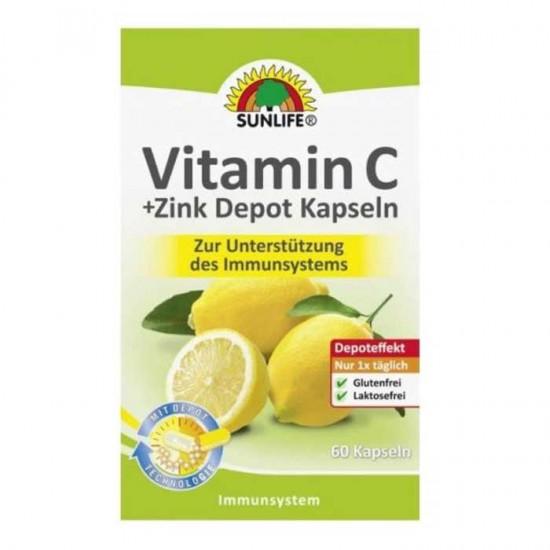 Vitamin C + Zink 60 caps -  Sunlife