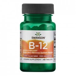 Vitamin B-12 Methylcobalamin 5000mcg  60 caps - Swanson