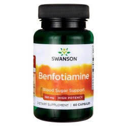 Benfotiamine High Potency 160mg 60caps - Swanson / Β1 - Θειανίνη