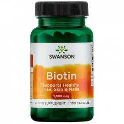 Biotin 5000mcg 100 caps - Swanson
