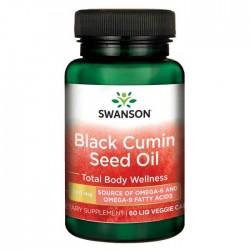 Black Cumin Seed Oil, 500mg - 60 liquid vcaps - Swanson / Ωμέγα απο Μαύρο Κύμινο