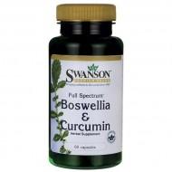 Boswellia Curcumin Full Spectrum 60 κάψουλες - Swanson / Αντιφλεγμονώδες Αρθρώσεις