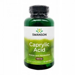 Caprylic Acid, 600mg - 60 softgels - Swanson