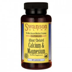 Albion Chelated Calcium & Magnesium Glycinate 60 caps - Swanson