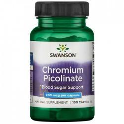 Chromium Picolinate 200mcg 100 caps - Swanson
