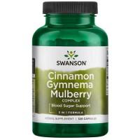 Cinnamon Gymnema Mulberry Complex 120 caps - Swanson / Σάκχαρο αίματος