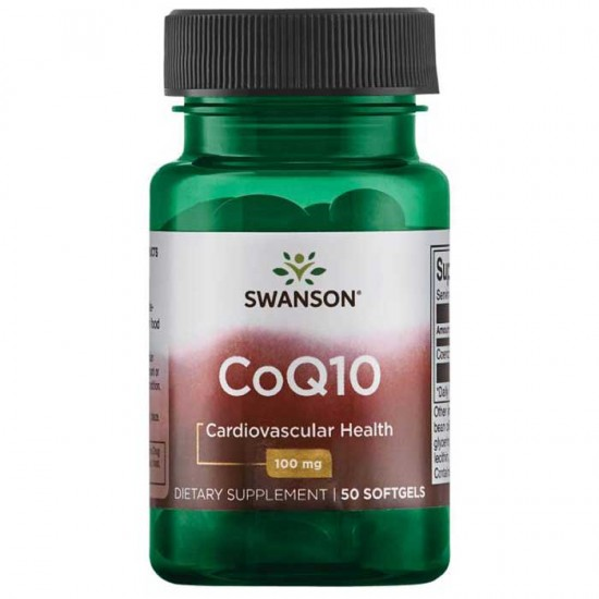 CoQ10, 100mg - 50 softgels - Swanson