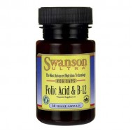 Folic Acid & B-12 30 vcaps - Swanson