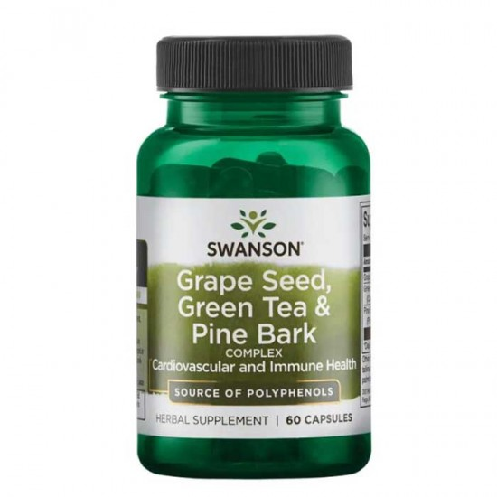 Grape Seed,Green Tea & Pine Bark Complex 60 caps - Swanson