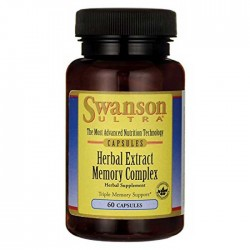 Herbal Extract Memory Complex 60 caps - Swanson / Μνήμη - Εγκέφαλος