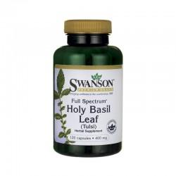 Holy Basil Leaf 400mg Tulsi Full Spectrum 120 κάψουλες - Swanson / Άγχος Στρες