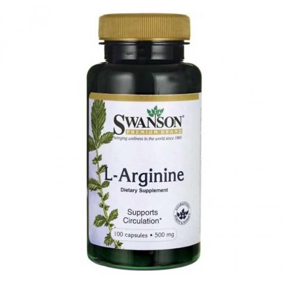 L-Arginine 500mg 100 caps - Swanson
