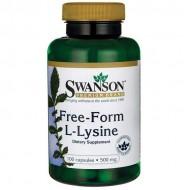 L-Lysine 500mg Free-Form 100 caps - Swanson