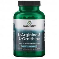 L-Arginine & L-Ornithine 100 caps - Swanson