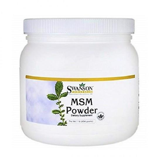 MSM Methylsulphonylmethane Powder 454gr - Swanson