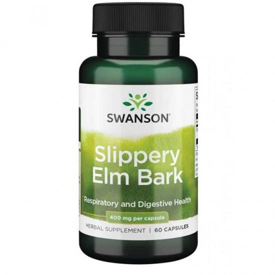 Slippery Elm Bark 400mg 60 caps - Swanson / Αναπνευστικό