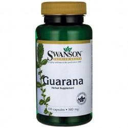 Guarana 500mg 100 κάψουλες - Swanson / Ενεργειακό Γκουαρανά