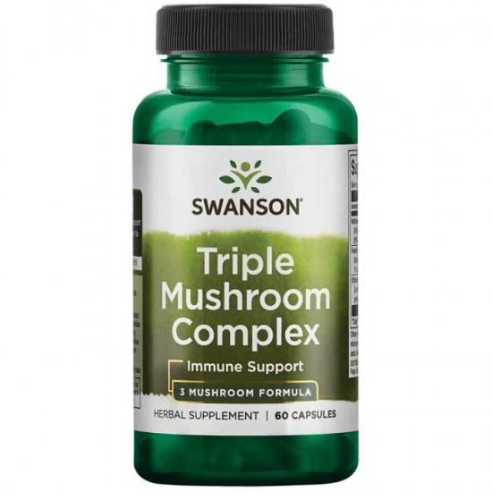 Triple Mushroom Complex Extract Standarized 60 caps - Swanson